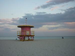 South Beach Miami sunset