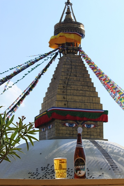 'Boudhanath with Beer'