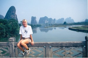 Chillin' on the Li River, China. Loved Yangshou, need to go back!