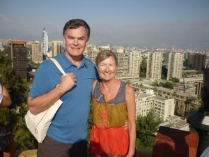 Atop Cerro Santa Lucia, a short hike, up steep, worn stone stairs for views of the city.