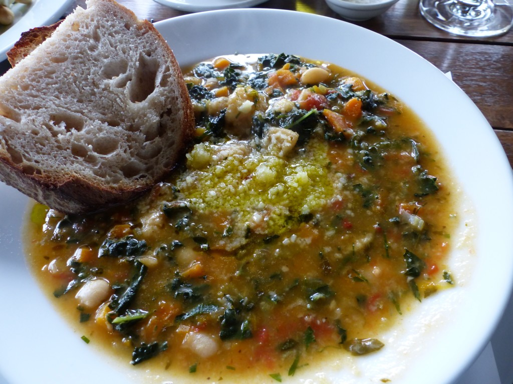 Bauernbrot and soup